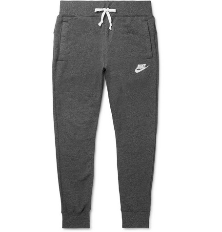 Sportswear Heritage Slim Fit Tapered Loopback Cotton Blend Jersey Sweatpants by Nike