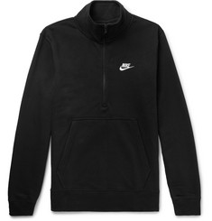 Nike Cotton-Blend Jersey Half-Zip Sweatshirt