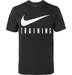 Nike Training Printed Cotton-Blend Dri-FIT T-Shirt