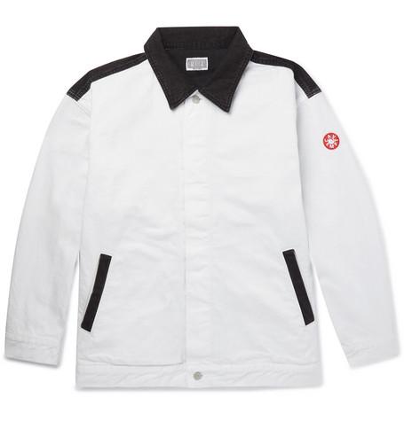 Printed Colour Block Denim Jacket by Cav Empt