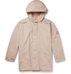 Cav Empt - Oversized Logo-Appliquéd Printed Cotton Hooded Parka