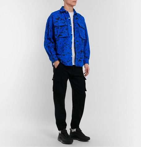 Noise Printed Cotton Flannel Shirt by Cav Empt
