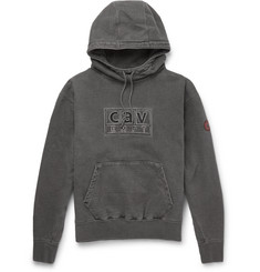 Cav Empt Logo-Embroidered Cotton-Jersey Hoodie