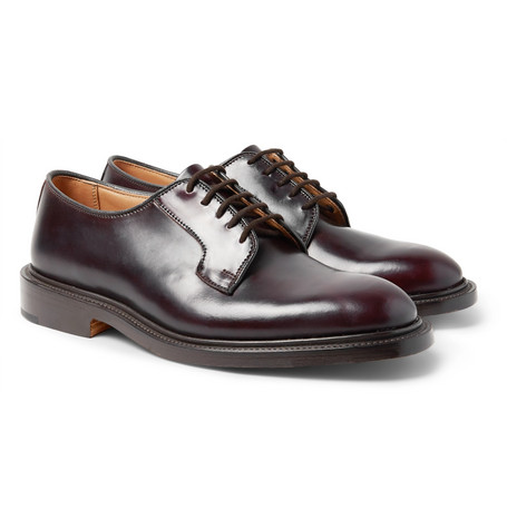 Bobby Cordovan Leather Derby Shoes - Merlot