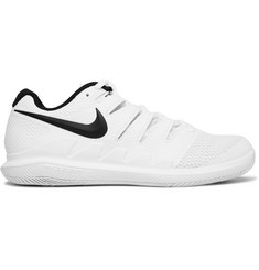 Nike Tennis - Air Zoom Vapor X HC Rubber and Mesh Tennis Sneakers