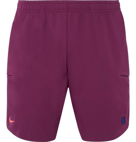 8738d543cde Nike Court Roger Federer Flex Ace Dri-Fit Tennis Shorts In Burgundy ...