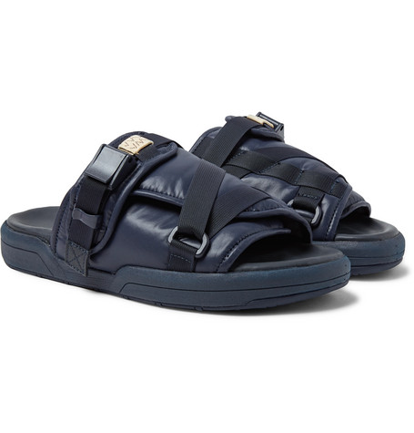 Christo Leather Trimmed Nylon Slides by Visvim