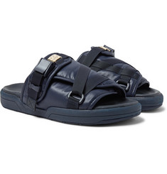 visvim Christo Leather-Trimmed Nylon Slides