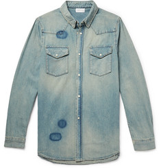 John Elliott - Distressed Denim Western Shirt