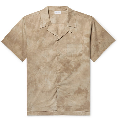 Camp Collar Tie Dyed Cotton Poplin Shirt by John Elliott