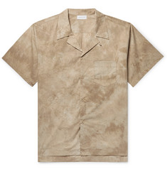 John Elliott Camp-Collar Tie-Dyed Cotton-Poplin Shirt
