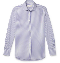SALLE PRIVÉE Curtis Slim-Fit Striped Cotton-Poplin Shirt