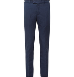 SALLE PRIVÉE - Navy Gehry Slim-Fit Cotton and Linen-Blend Suit Trousers