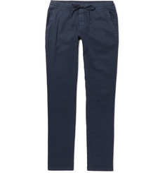 Loro Piana - Slim-Fit Stretch Linen and Cotton-Blend Drawstring Trousers