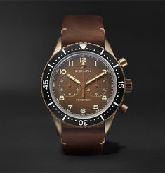 Zenith - Pilot Cronometro TIPO CP-2 Automatic 43mm Bronze and Nubuck Watch