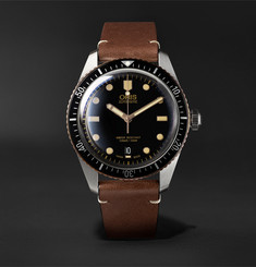 Oris Divers Sixty-Five Automatic 42mm Stainless Steel and Leather Watch