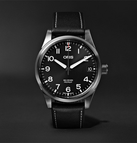 Oris Big Crown Pro Pilot Automatic 41mm Stainless Steel and Leather Watch