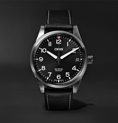 Oris Big Crown Pro Pilot Automatic 41mm Stainless Steel and Leather Watch, Ref. No. 01 751 7697 4264-07 5