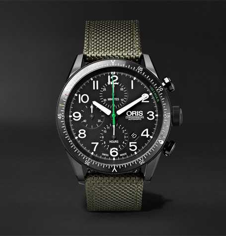 Oris Paradropper Limited Edition Automatic Chronograph 44mm Titanium and Canvas Watch