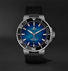 Oris - Clipperton Automatic 43.5mm Stainless Steel and Rubber Watch