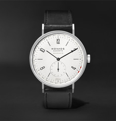 NOMOS Glashütte Tangente Neomatik Automatic 41mm Stainless Steel and Leather Watch