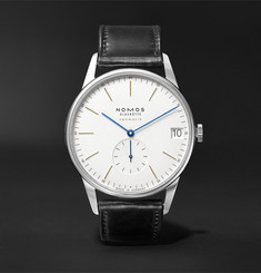 NOMOS Glashütte Orion Neomatik Automatic 41mm Stainless Steel and Leather Watch, Ref. No. 360