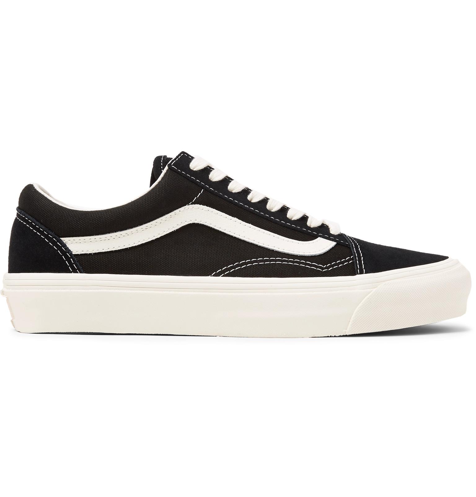 bebd81ab1c Vans - OG Old Skool LX Leather-Trimmed Canvas and Suede Sneakers