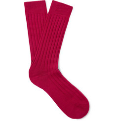 Pantherella Ribbed Cashmere-Blend Socks