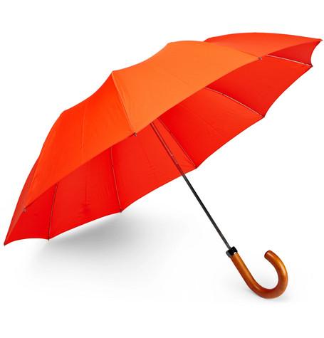 Maple Wood-handle Telescopic Umbrella
