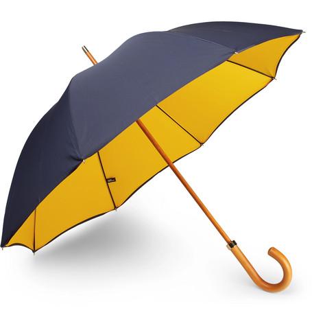 City Gent Wood-handle Shell Umbrella
