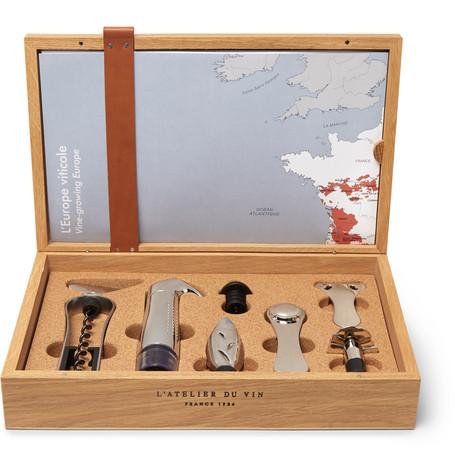 L'ATELIER DU VIN Oeno Box Collector Set in Brown