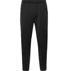 Adidas Sport - Ultimate Tapered Striped Fleece-Back Climalite Sweatpants
