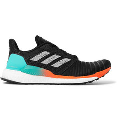 Adidas Sport SolarBOOST Rubber-Trimmed Mesh Running Sneakers