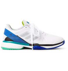 Adidas Sport - + Stella McCartney Barricade Boost Rubber-Trimmed Mesh Tennis Sneakers