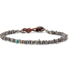 Peyote Bird - Sterling Silver, Rutilated Quartz and Turquoise Bracelet