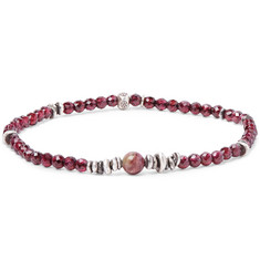 Peyote Bird Tourmaline And Sterling Silver Bracelet - Pink phRxq86B