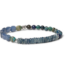 Peyote Bird - Turquoise, Kyanite and Sterling Silver Bracelet