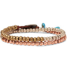 Peyote Bird - Brass, Copper and Silver Wrap Bracelet