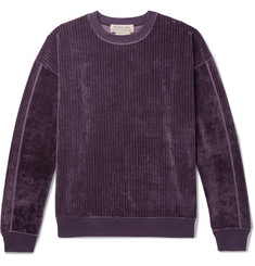 Remi Relief Ribbed Velour Sweatshirt
