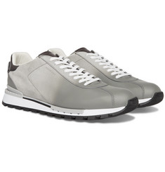 Berluti - Fast Track Torino Suede and Leather Sneakers
