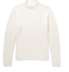 Mr P. - Slim-Fit Ribbed Merino Wool Sweater