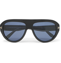 TOM FORD Felix Aviator-Style Acetate Sunglasses