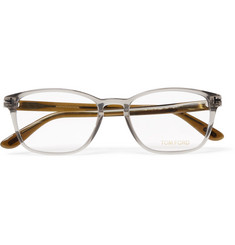 TOM FORD Two-Tone Square-Frame Acetate Optical Glasses