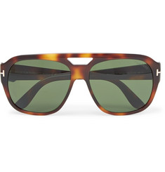 TOM FORD - Bachardy Aviator-Style Tortoiseshell Acetate Sunglasses
