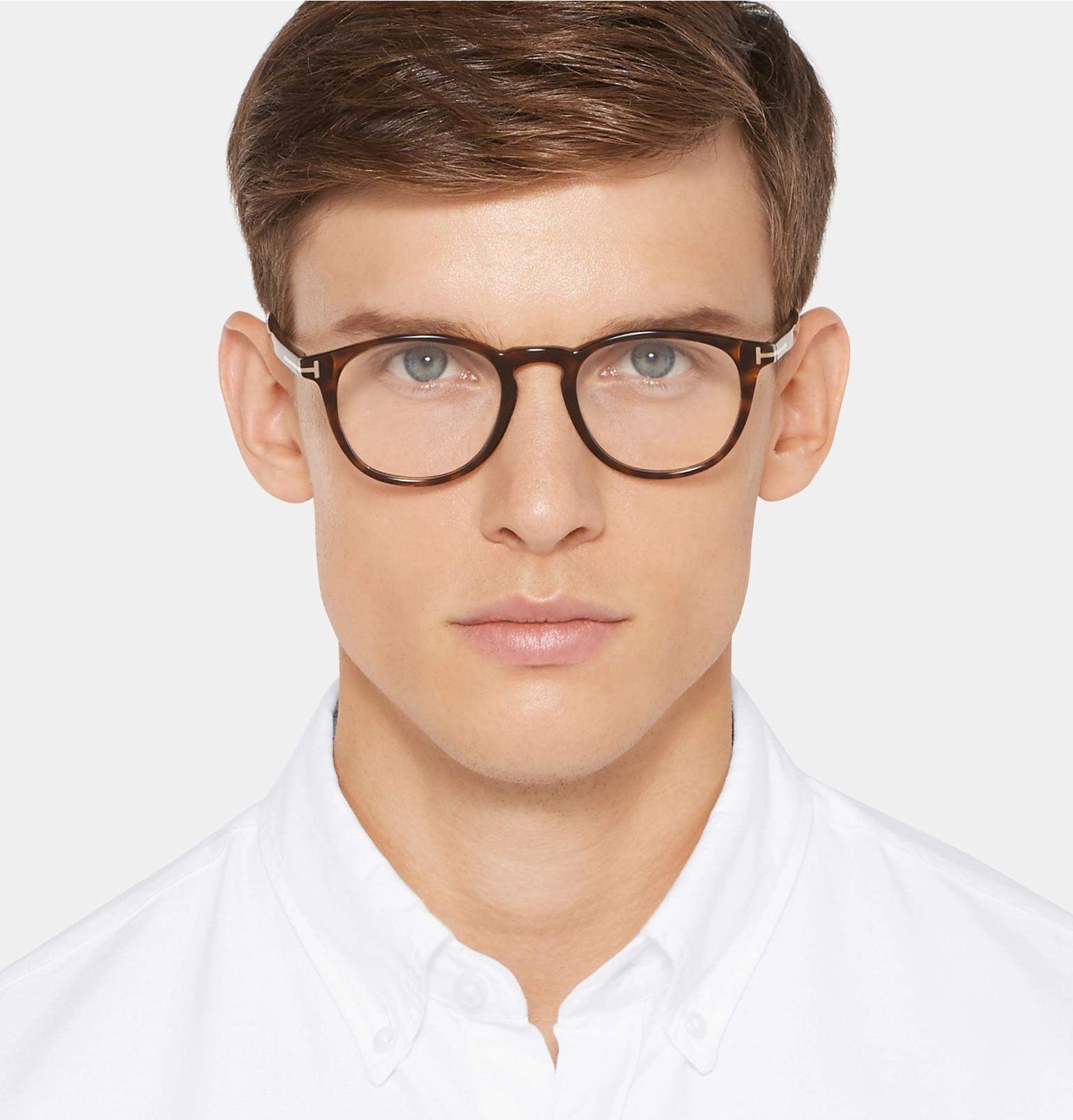 d462ae7442674 TOM FORD - Round-Frame Tortoiseshell Acetate Optical Glasses