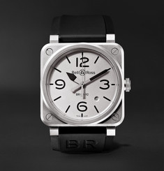 Bell & Ross - BR 03-92 Horoblack Automatic 42mm Steel and Rubber Watch