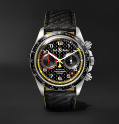 Bell & Ross - BR V2-94 R.S.18 Renault Limited Edition Chronograph 41mm Stainless Steel and Leather Watch
