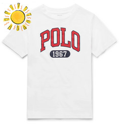 Polo Ralph Lauren Boys Ages 8 - 10 Logo-Print Cotton-Jersey T-Shirt