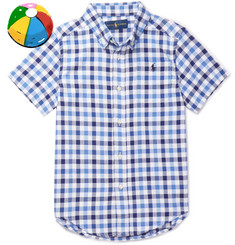 Polo Ralph Lauren Boys Ages 8 - 10 Gingham Stretch Cotton-Blend Shirt
