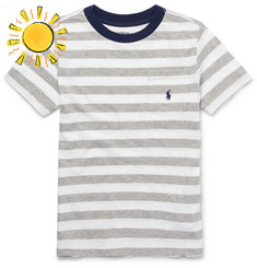Polo Ralph Lauren Boys Ages 8 - 10 Striped Cotton-Jersey T-Shirt
